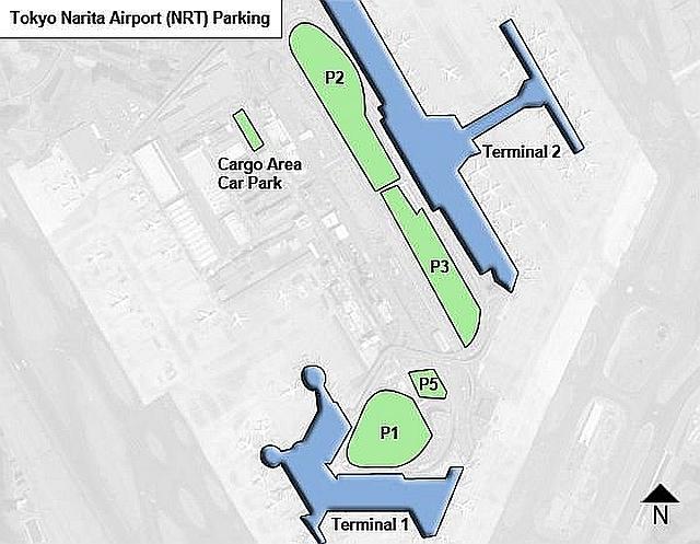 Схема парковочных зон в аэропорту