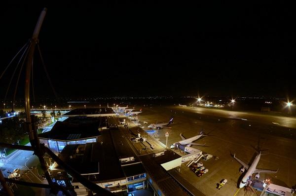 Ночной вид сверху