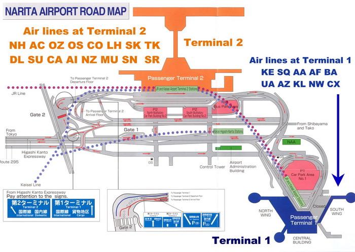 Схематичное изображение воздушного порта Нарита