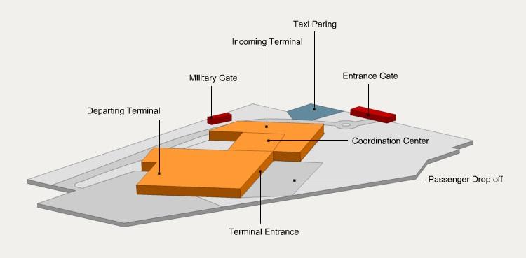 Схема аэропорта Увда