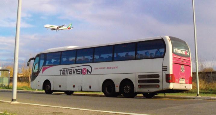 Автобусы Terravision довезут пассажиров до аэропорта города Пиза