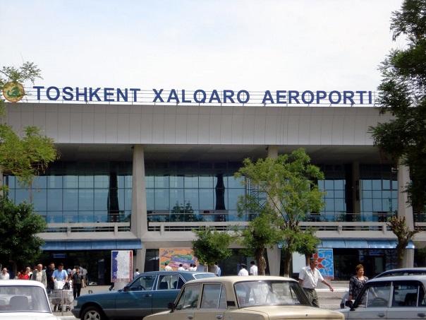 Парковка в международном аэропорту Ташкента