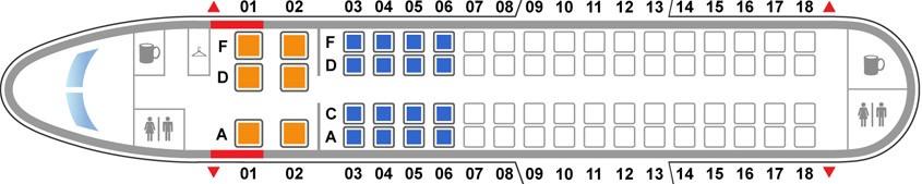 Схема самолета Embraer E-170