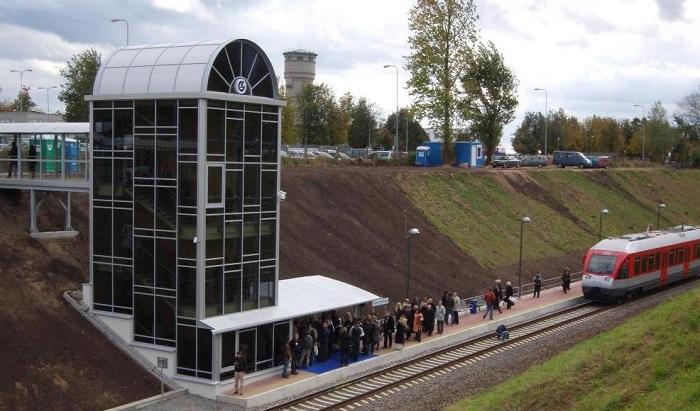 Железнодорожная станция у аэропорта