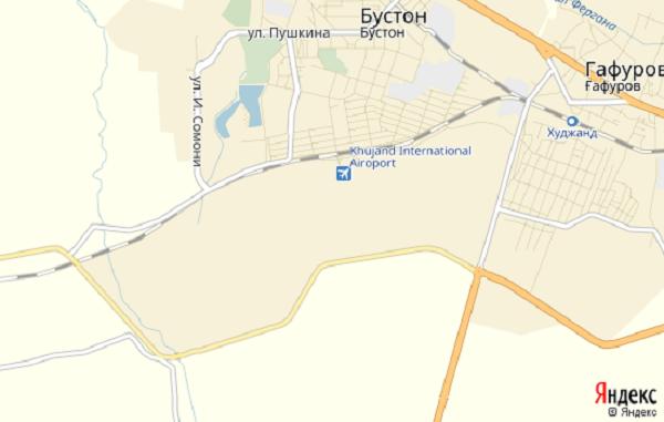 Карта аэропорта Худжанд