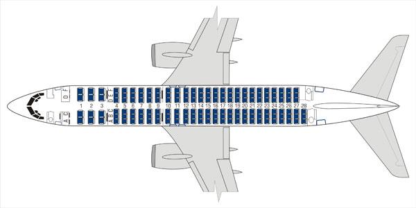 Салон Боинга 737-800