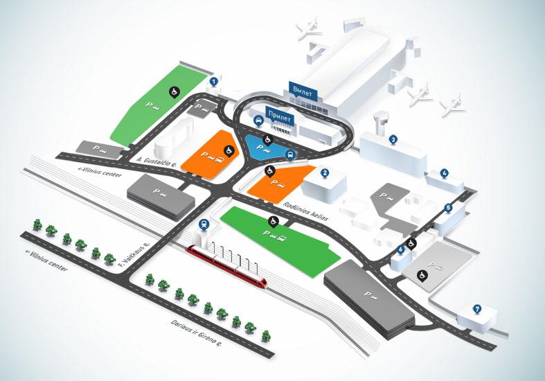Схема Вильнюсского аэропорта