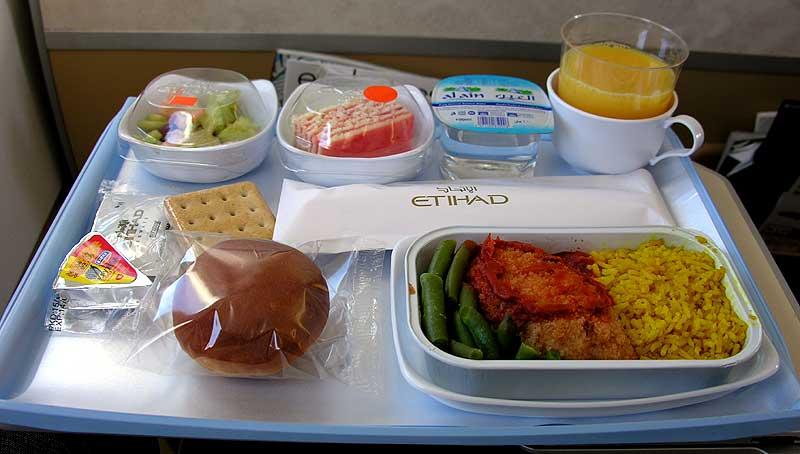 Стандартное меню в самолете