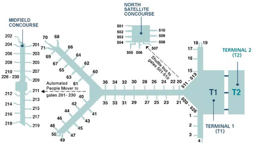 Подробная схема аэропорта