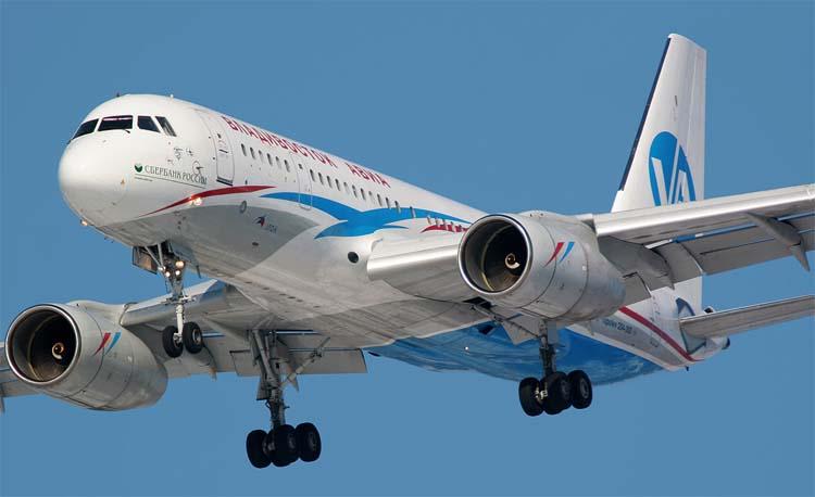 ТУ-204 – самый тяжелый российский пассажирский лайнер