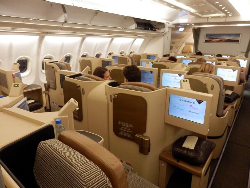 В салоне Airbus A330