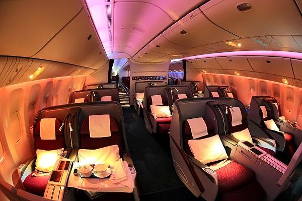 Как выглядит кабина Бизнесс-класса авиакомпании Катар