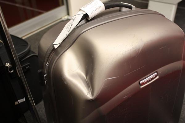 Возможные повреждения чемоданов при транспортировке в случае отсутствия упаковки