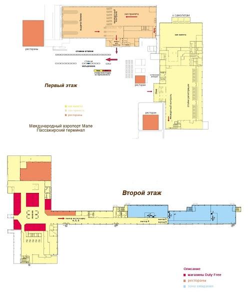 Схема аэропорта на Мальдивах