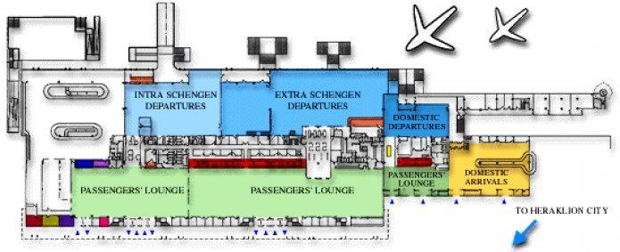 Схема аэропорта Ираклион