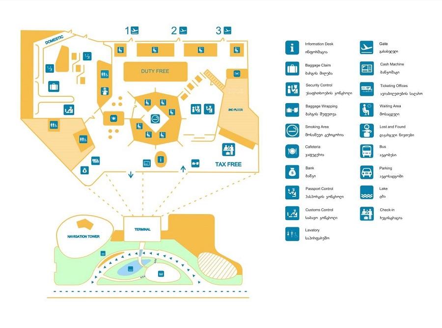 Схема аэропорта Кутаиси