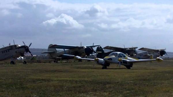 Посадка самолетов в аэропорте Заводское