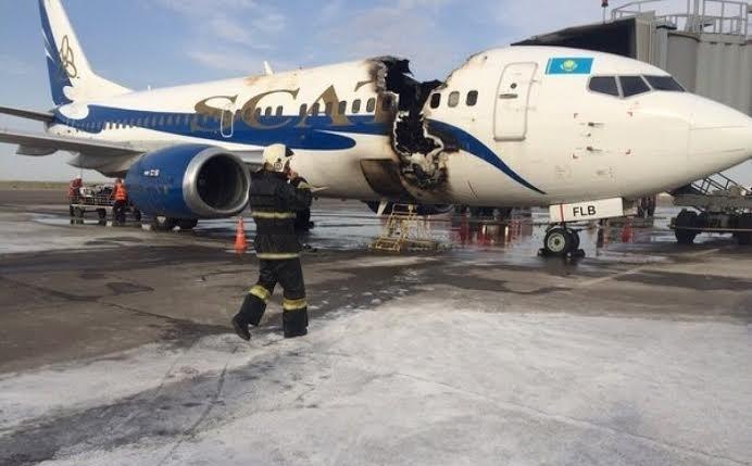 Последствия пожара на борту Boeing-737