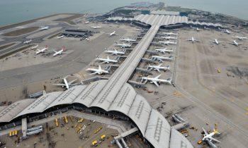 Аэропорт Гонконга расположен на острове