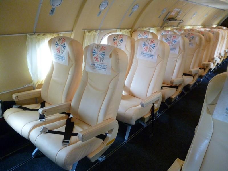 Как выглядит салон самолета, принадлежащего Костромскому авиапредприятию