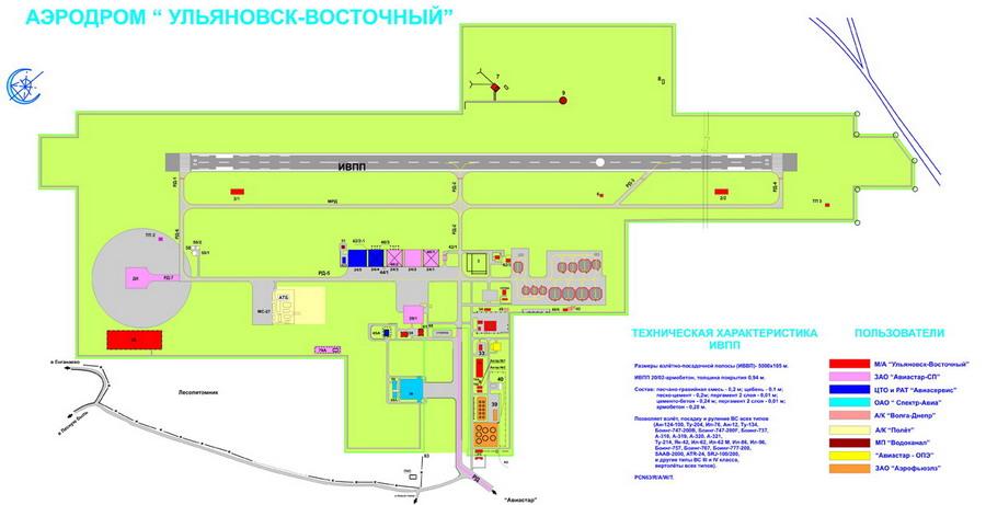 Схема а/п Восточный Ульяновск