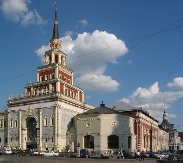 Фасад Казанского вокзала