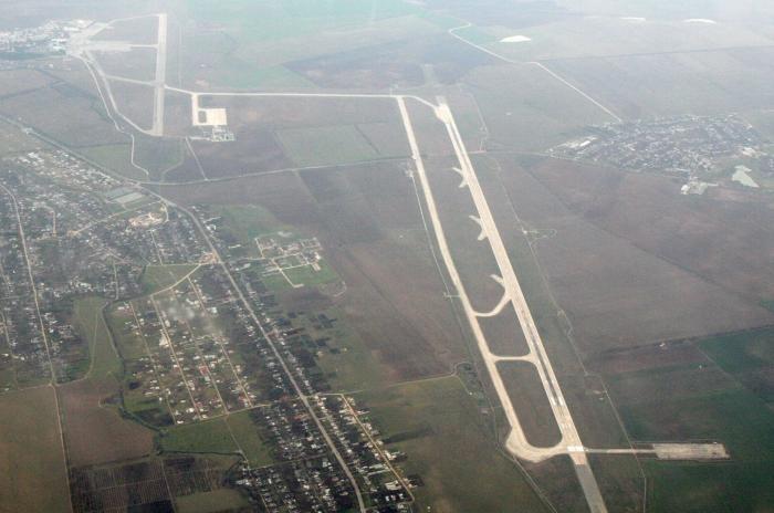 Вид аэропорта Симферополя сверху