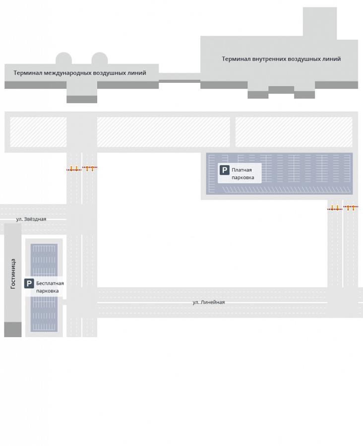 Общая схема аэропорта Кадала