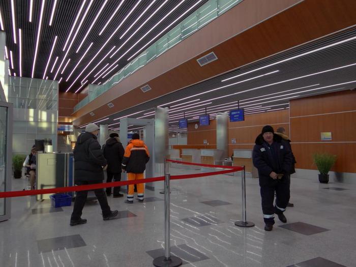 Как выглядит здание аэровокзала внутри