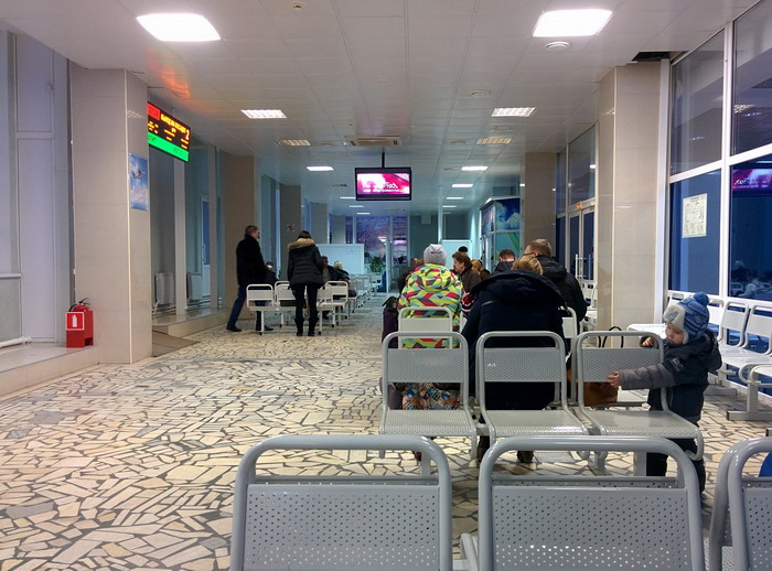 Зал ожидания в Syktyvkar Airport