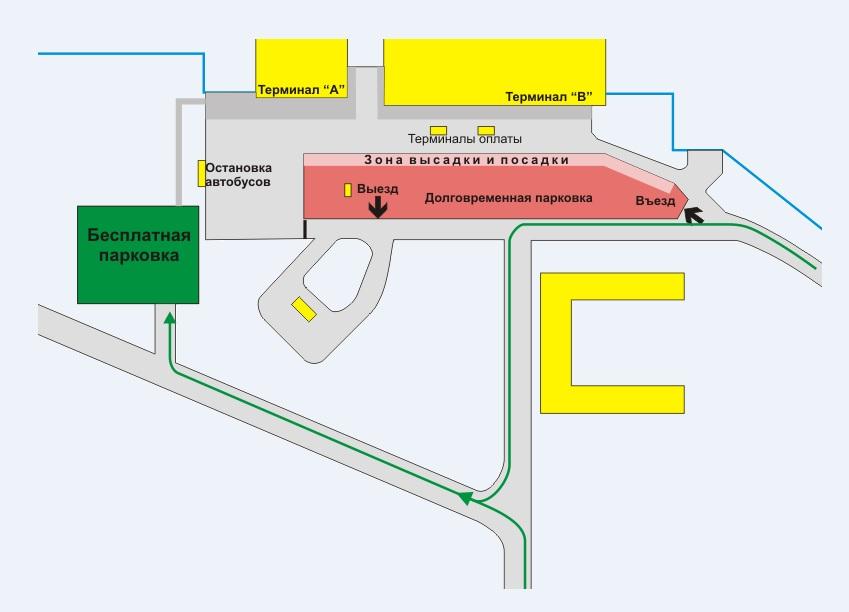 Схема аэропорта Омск