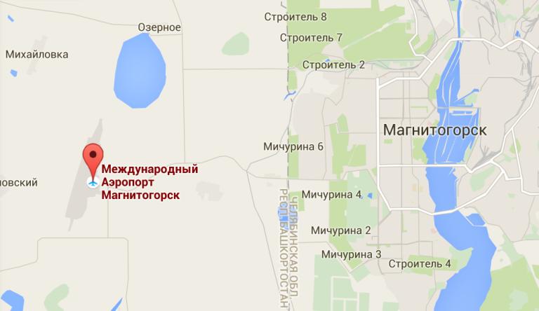 Схема Проезда Магнитогорск аэропорт