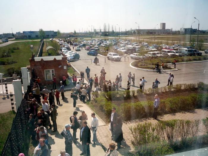 Парковка на аэровокзале Ульяновска