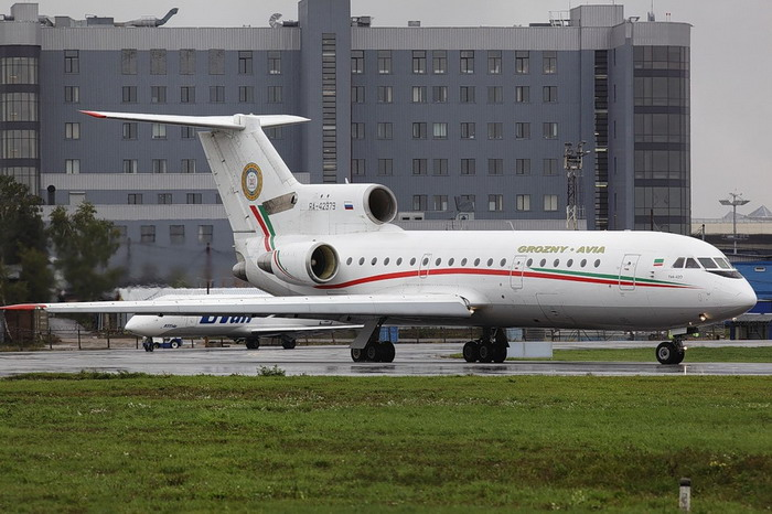 Самолет с символикой Грозный Авиа