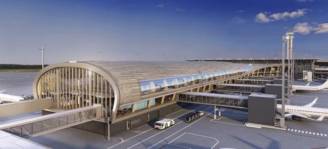 Предполагаемый вид нового терминала, строительство которого завершится в 2017 году