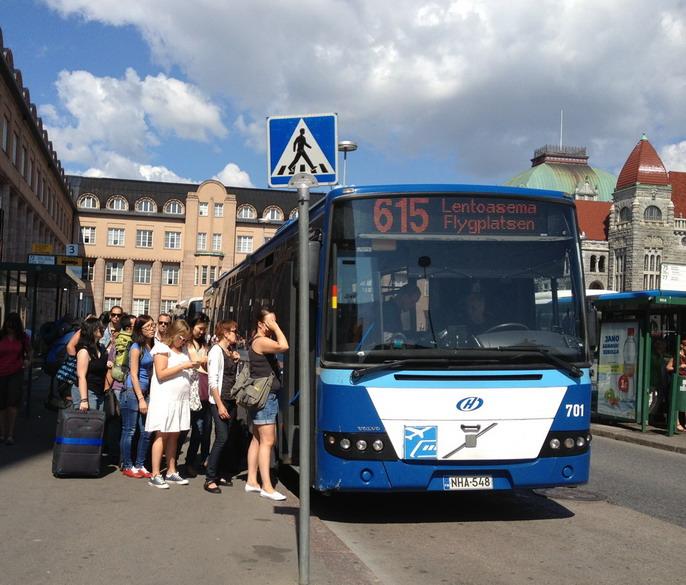 Автобус 615 в аэропорт Хельсинки