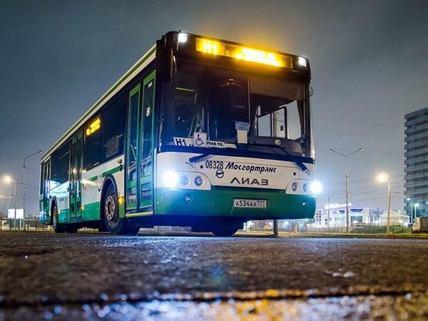 Ночной автобусный маршрут до Шереметьево