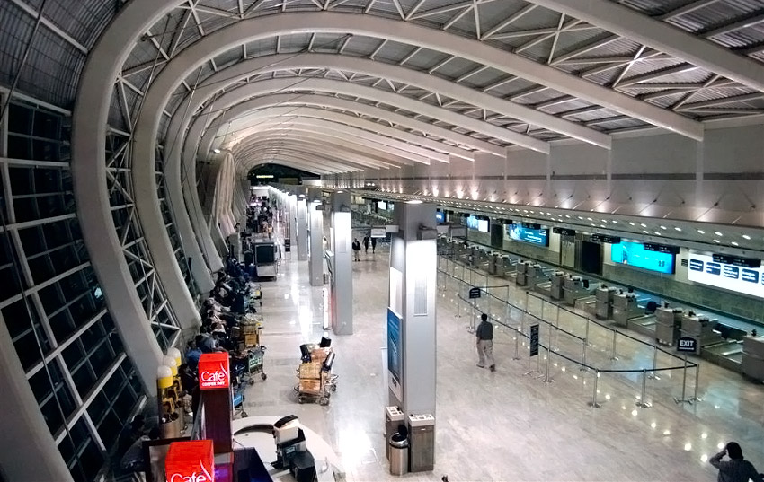 Зал вылета в новом терминале аэропорта Гоа