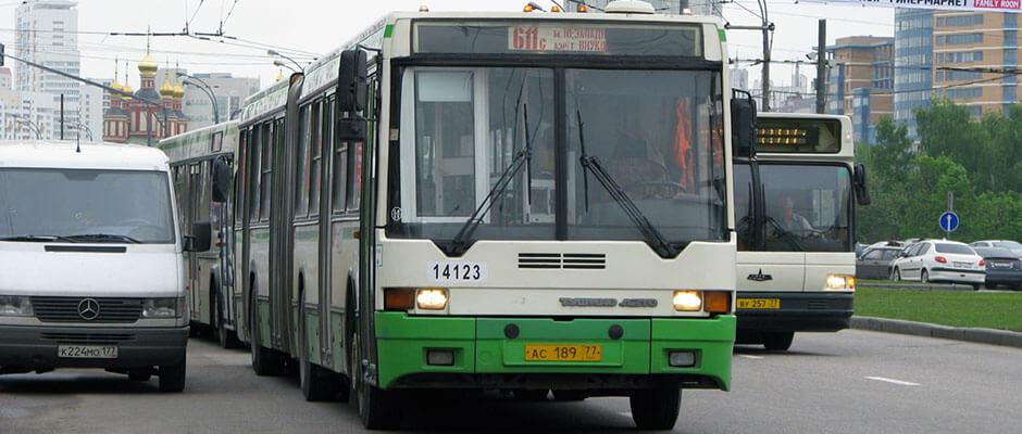 Поездка на автобусе будет немного более затратна по времени