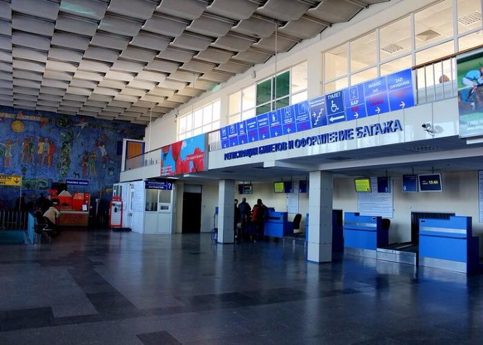 Аэровокзал, вид изнутри
