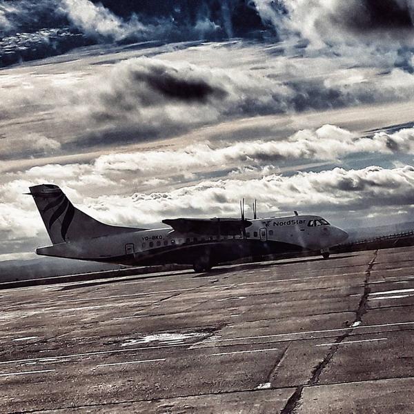 В аэропорту Норильска объявлено штормовое предупреждение