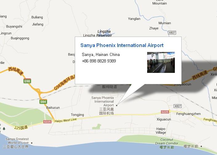 Карта расположения аэропорта