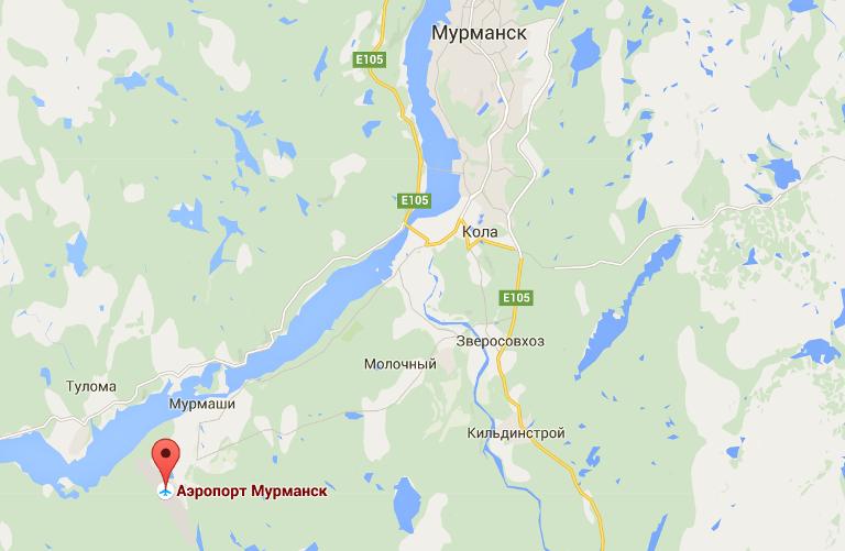 Аэропорт Мурманск имеет выгодное расположение неподалеку от города