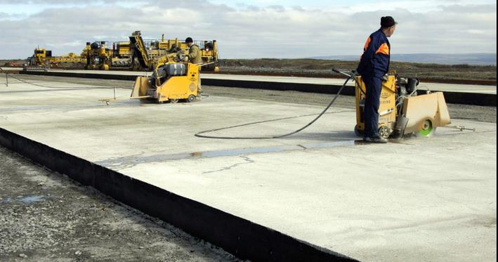 Реконструируемый участок пока залит бетоном на треть