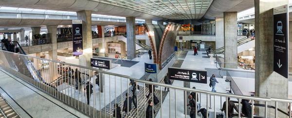 Так выглядит железнодорожный вокзал аэропорта Шарль де Голль