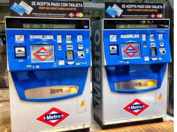 Автоматы билетов на проезд в метро