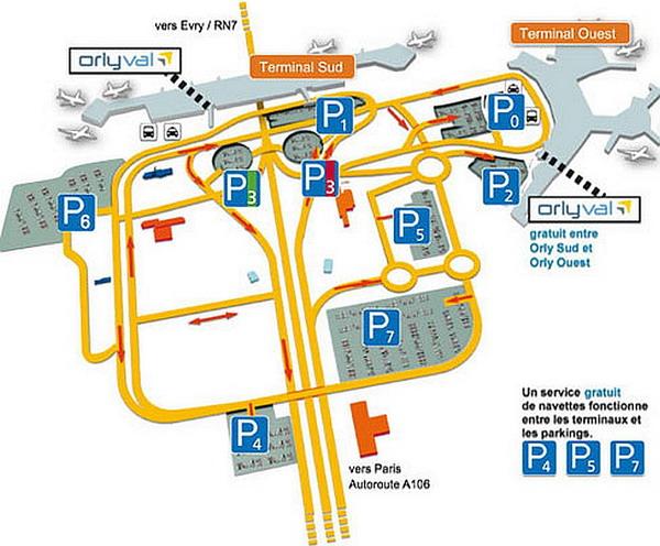 Парковки в аэропорту Орли