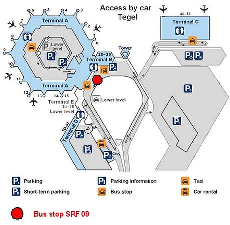 Парковки в аэропорту Тегель
