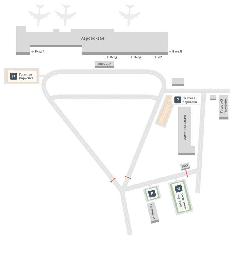 Схема аэропорта поможет сориентироваться на территории