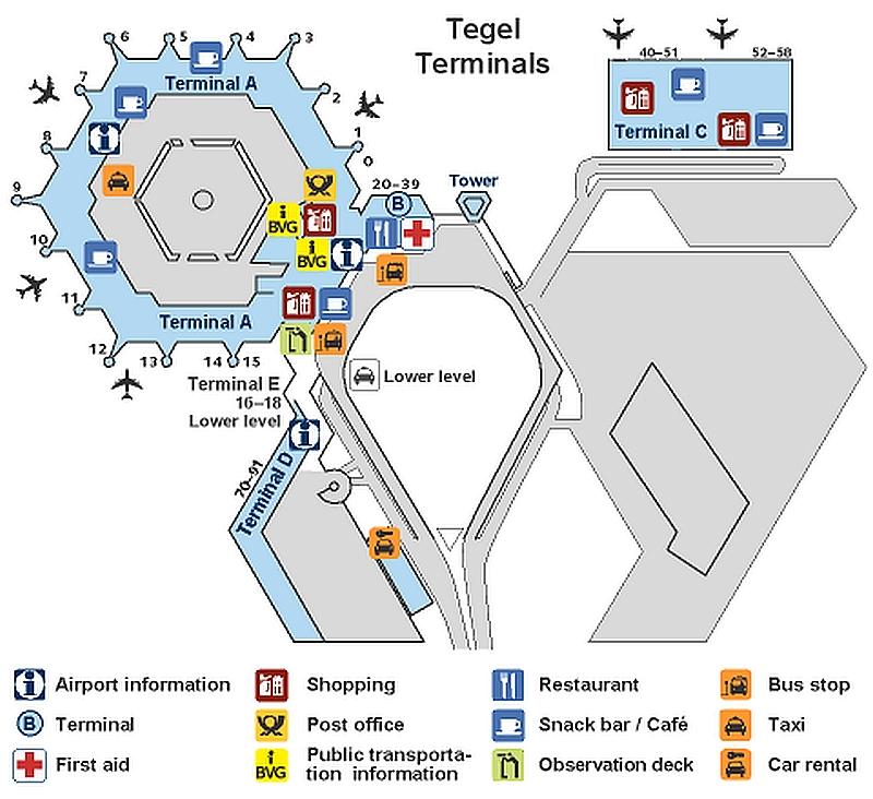 Схема берлинского аэропорта